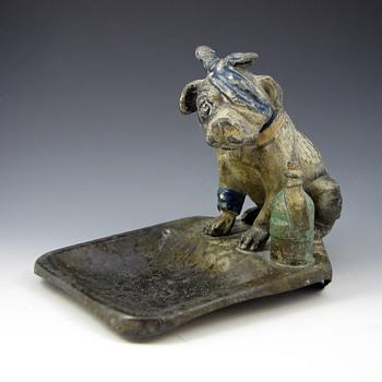 Austrian Cold Painted Bronze Nodder Dog Vide Poche - Art Nouveau