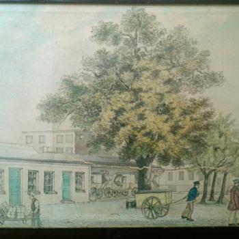 Folk Drawing/Watercolor City Scene? - Fine Art