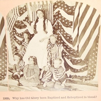 Patriotic Stereoview from Spanish American War - Military and Wartime