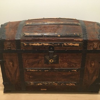 1862 Tooled Leather Dome Top Trunk - Furniture
