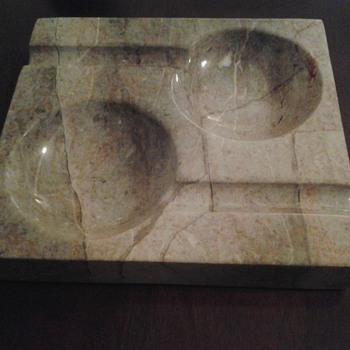 heavy marble ashtray