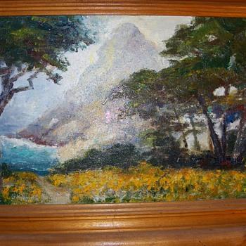 California Vintage Outdoor (Plein Air) Artist 20th Century Signed Painting - Fine Art