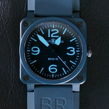 Bell & Ross BR 03-92 Blue Ceramic and Compass Watches - Wristwatches