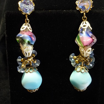 Vendome art glass earrings