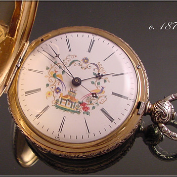 Chinese Duplex Key Wind Pocket Watch c.1870