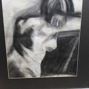 CHARCOAL NUDE DRAWING - Fine Art