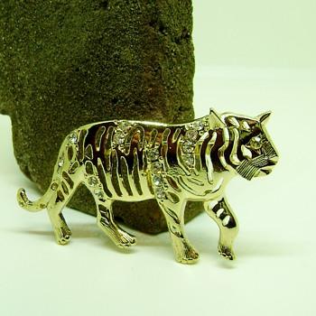 Eisenberg Ice Tiger Brooch - Animals