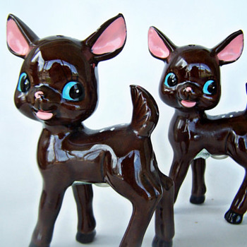 Early Redware Deer, Adorable!!