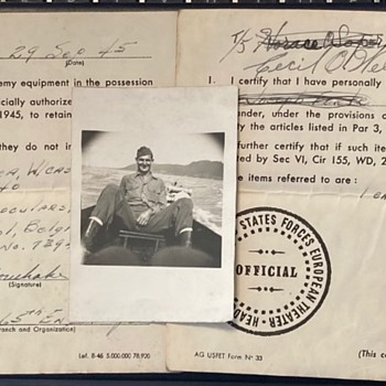 WW2 capture paperwork - Military and Wartime
