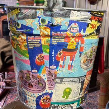 A Large Tin Pail Covered with Robot Stickers? - Tools and Hardware