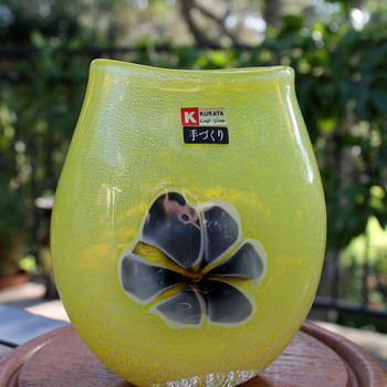 Kurata Glass in sunny yellow - Art Glass
