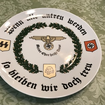World War II German plate if all are unfaithful they are true to me - Military and Wartime