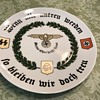 World War II German plate if all are unfaithful they are true to me