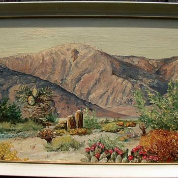 Southwest Desert Scene Oil Painting By Mili 63