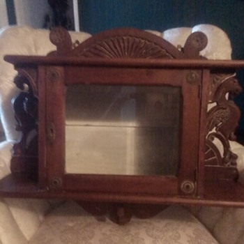 Eastlake Hand Carved Cabinet  Circa 1880s-90s
