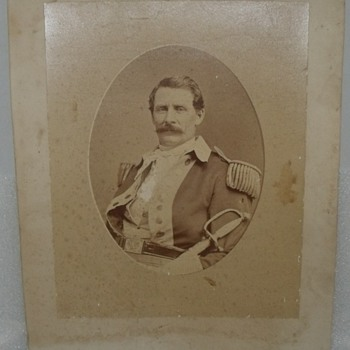 Brady Mount Civil War Officer Soldier Uniform Photograph Picture Vintage - Military and Wartime
