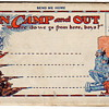 Vintage WWI MilItary 1914 Postcard Fold~Out Cartoons
