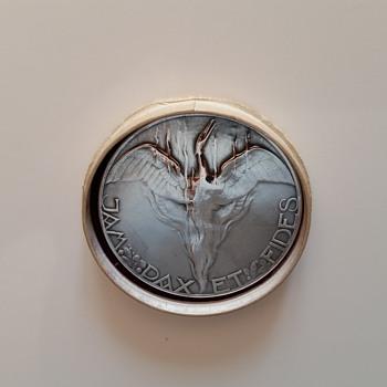 chris v/d hoef silver coin