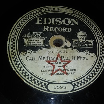 Way..Way Back For A Wednesday...Edison Disc - Records