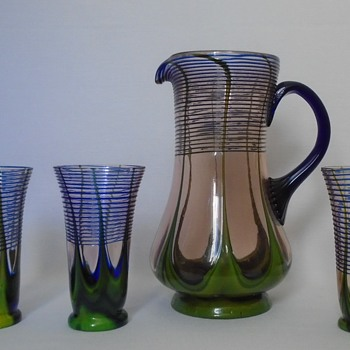 Kralik Jug and Tumblers - Art Glass