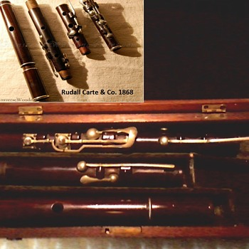 "Cocoa-Cocuswood Flute With Case/Rudall-Rose 8 Key Design /Retailer J. Limbird & Co.""143"" Strand London/ Circa 1830's-40's - Musical Instruments"