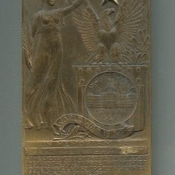 Ingham County, MI,  WWI Named Death Plaque - Military and Wartime