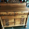 Antique Tiger Oak Buffet SideBoard