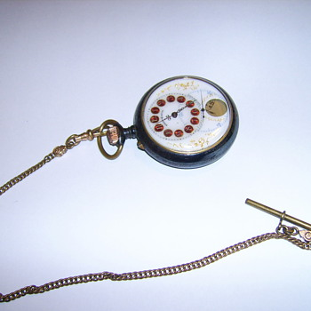 RARE BREVET PICTURE POCKET WATCH  PRESIDENTS PIC ON FRONT ON BACK