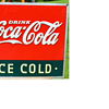 1937 Coca Cola Sign with Bottle, Mint Condition