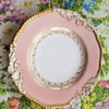 CoalPort England Antique Plate Pink White Gold Embossed Porcelain RARE 1880s
