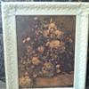 Floral print painted ornate frame
