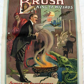 "Original Brush ""King of Wizards"" Stone Lithograph Poster"