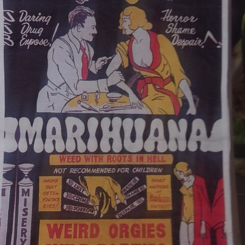 "1930's ""MARIHUANNA"" movie poster."