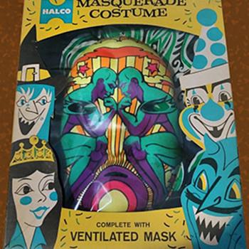 "Quite Rare 1960s HALCO ""Psychedelic"" Halloween Costume - Toys"