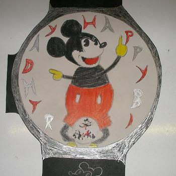 Mickey Mouse Wristwatch Birthday Card