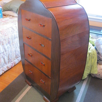 Antique English Art Deco Chest Of Drawers - Art Deco
