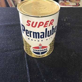 Super Permalube  motor oil can  - Petroliana