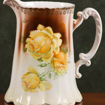 Signed German Porcelain Pitcher - China and Dinnerware