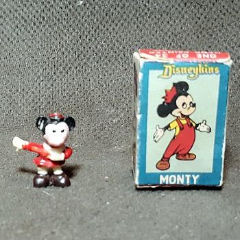 Marx Disneykins Monty Mouse Nephew of Mickey Mouse 1961 - Advertising