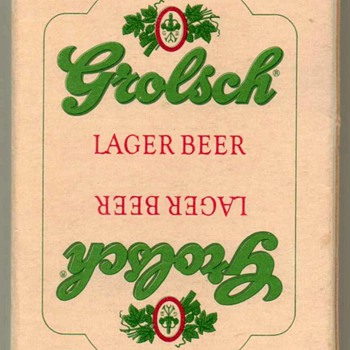 "1980's - ""Grolsch Lager"" Playing Cards - Cards"