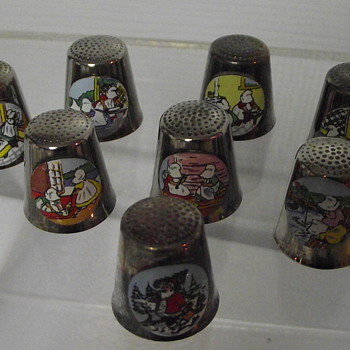 8pc set of Downs Thimbles - Sewing