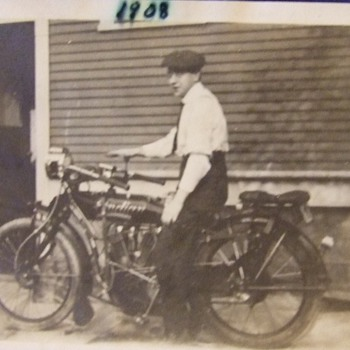 Photograph of an Indian Motorcycle c. 1908
