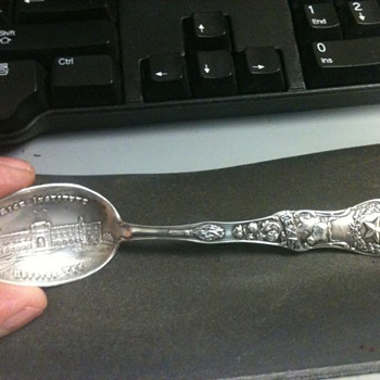 Sterling Silver Rice Instititute Spoon, Help - Silver