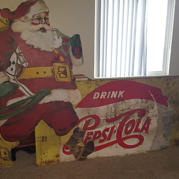 1950s Pepsi Cola sign and Santa