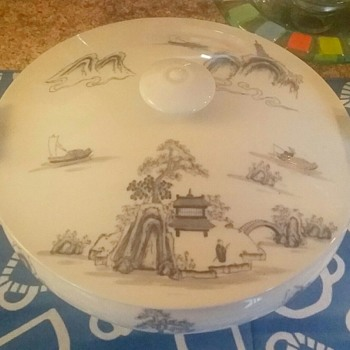 Hand-painted Asian Soup Bowl