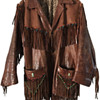 Authentic 1960's Haight-Ashbury Hippie Fringe Beaded Leather Jacket