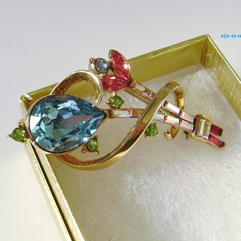 Trifari Gem of India Brooch Patent  - Costume Jewelry