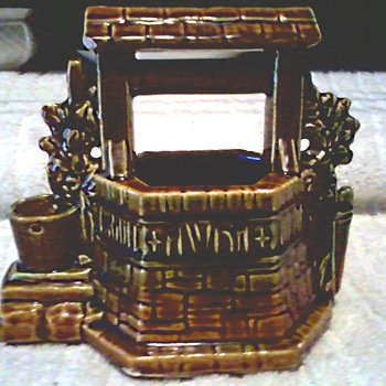 Worse for Wear Wishing Well Planter/ Marked McCoy /Circa 1950's - Pottery