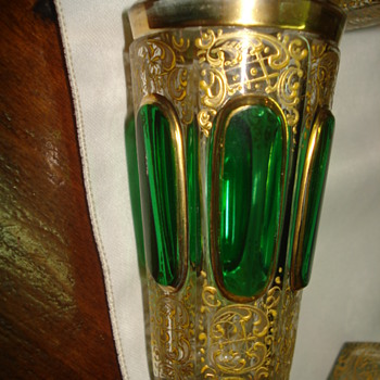 Eight Moser cabochon tumblers - Art Glass