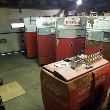 1940's & 1950's Coca-Cola Machines Before Restoration, After Pictures Coming Soon.... - Coca-Cola